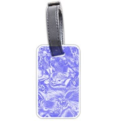 Shimmering Floral Damask,blue Luggage Tags (Two Sides)
