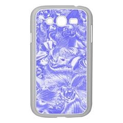 Shimmering Floral Damask,blue Samsung Galaxy Grand DUOS I9082 Case (White)