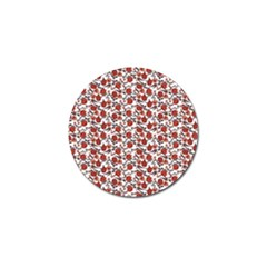 Roses pattern Golf Ball Marker