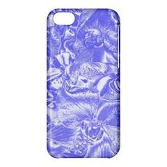 Shimmering Floral Damask,blue Apple iPhone 5C Hardshell Case
