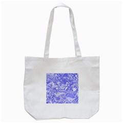 Shimmering Floral Damask,blue Tote Bag (White)