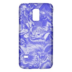 Shimmering Floral Damask,blue Galaxy S5 Mini