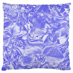Shimmering Floral Damask,blue Standard Flano Cushion Case (Two Sides)