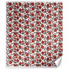 Roses pattern Canvas 20  x 24