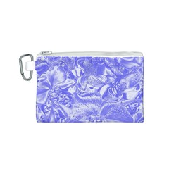 Shimmering Floral Damask,blue Canvas Cosmetic Bag (S)