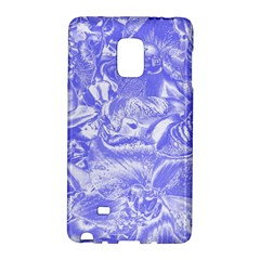 Shimmering Floral Damask,blue Galaxy Note Edge