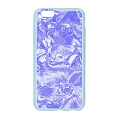 Shimmering Floral Damask,blue Apple Seamless iPhone 6/6S Case (Color)