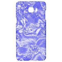 Shimmering Floral Damask,blue Samsung C9 Pro Hardshell Case