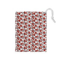 Roses pattern Drawstring Pouches (Medium)