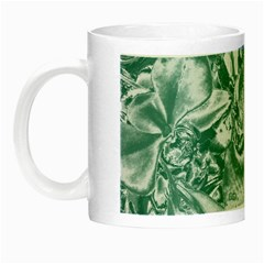 Shimmering Floral Damask, Teal Night Luminous Mugs