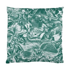 Shimmering Floral Damask, Teal Standard Cushion Case (One Side)