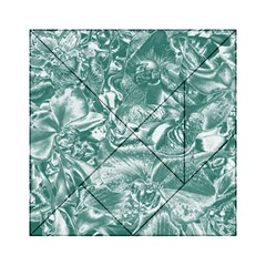 Shimmering Floral Damask, Teal Acrylic Tangram Puzzle (6  x 6 )
