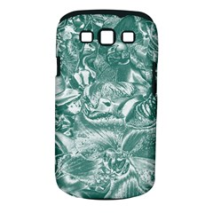 Shimmering Floral Damask, Teal Samsung Galaxy S III Classic Hardshell Case (PC+Silicone)