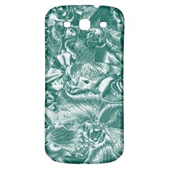 Shimmering Floral Damask, Teal Samsung Galaxy S3 S III Classic Hardshell Back Case