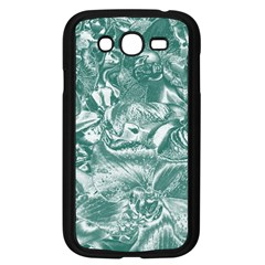 Shimmering Floral Damask, Teal Samsung Galaxy Grand DUOS I9082 Case (Black)