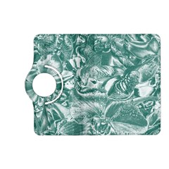 Shimmering Floral Damask, Teal Kindle Fire HD (2013) Flip 360 Case