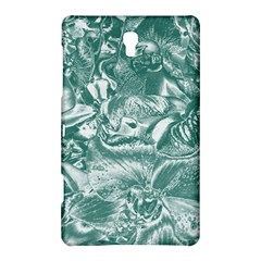 Shimmering Floral Damask, Teal Samsung Galaxy Tab S (8.4 ) Hardshell Case