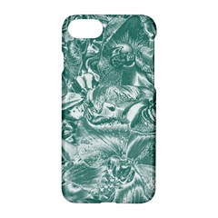Shimmering Floral Damask, Teal Apple iPhone 7 Hardshell Case