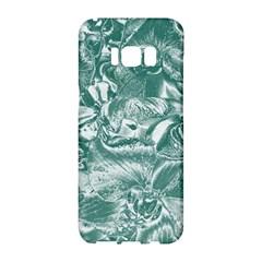 Shimmering Floral Damask, Teal Samsung Galaxy S8 Hardshell Case