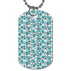 Roses pattern Dog Tag (Two Sides)