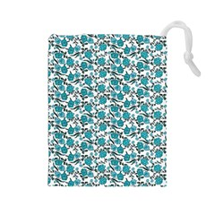 Roses pattern Drawstring Pouches (Large)