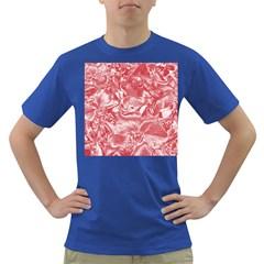 Shimmering Floral Damask Pink Dark T-Shirt