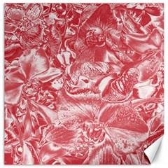 Shimmering Floral Damask Pink Canvas 20  x 20