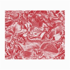Shimmering Floral Damask Pink Small Glasses Cloth (2-Side)