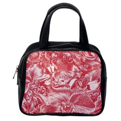 Shimmering Floral Damask Pink Classic Handbags (One Side)