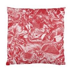 Shimmering Floral Damask Pink Standard Cushion Case (One Side)