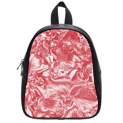 Shimmering Floral Damask Pink School Bags (Small)