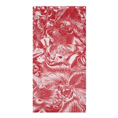 Shimmering Floral Damask Pink Shower Curtain 36  x 72  (Stall)