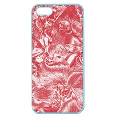 Shimmering Floral Damask Pink Apple Seamless iPhone 5 Case (Color)