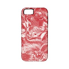Shimmering Floral Damask Pink Apple iPhone 5 Classic Hardshell Case (PC+Silicone)