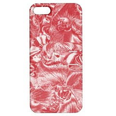 Shimmering Floral Damask Pink Apple iPhone 5 Hardshell Case with Stand