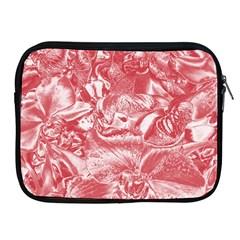 Shimmering Floral Damask Pink Apple iPad 2/3/4 Zipper Cases