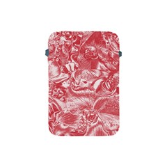 Shimmering Floral Damask Pink Apple iPad Mini Protective Soft Cases