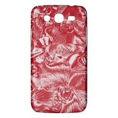Shimmering Floral Damask Pink Samsung Galaxy Mega 5.8 I9152 Hardshell Case