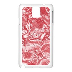 Shimmering Floral Damask Pink Samsung Galaxy Note 3 N9005 Case (White)