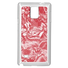 Shimmering Floral Damask Pink Samsung Galaxy Note 4 Case (White)