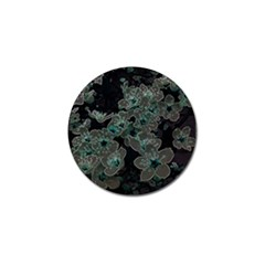 Glowing Flowers In The Dark C Golf Ball Marker (4 pack)
