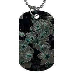 Glowing Flowers In The Dark C Dog Tag (Two Sides)