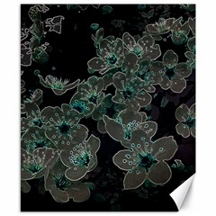 Glowing Flowers In The Dark C Canvas 8  x 10