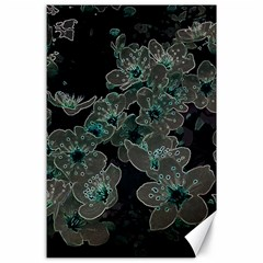 Glowing Flowers In The Dark C Canvas 24  x 36