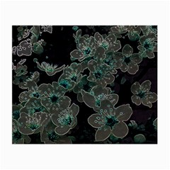 Glowing Flowers In The Dark C Small Glasses Cloth (2-Side)