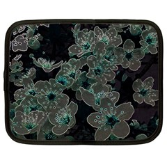 Glowing Flowers In The Dark C Netbook Case (Large)