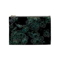 Glowing Flowers In The Dark C Cosmetic Bag (Medium)