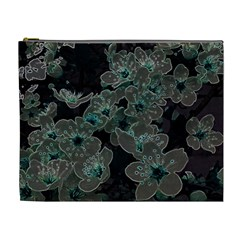 Glowing Flowers In The Dark C Cosmetic Bag (XL)