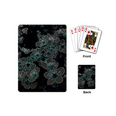 Glowing Flowers In The Dark C Playing Cards (Mini)