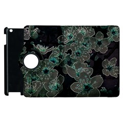 Glowing Flowers In The Dark C Apple iPad 2 Flip 360 Case